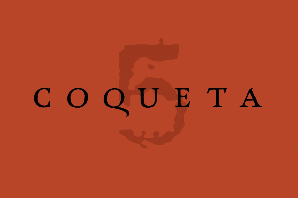 Coqueta_Lockup_red with 5